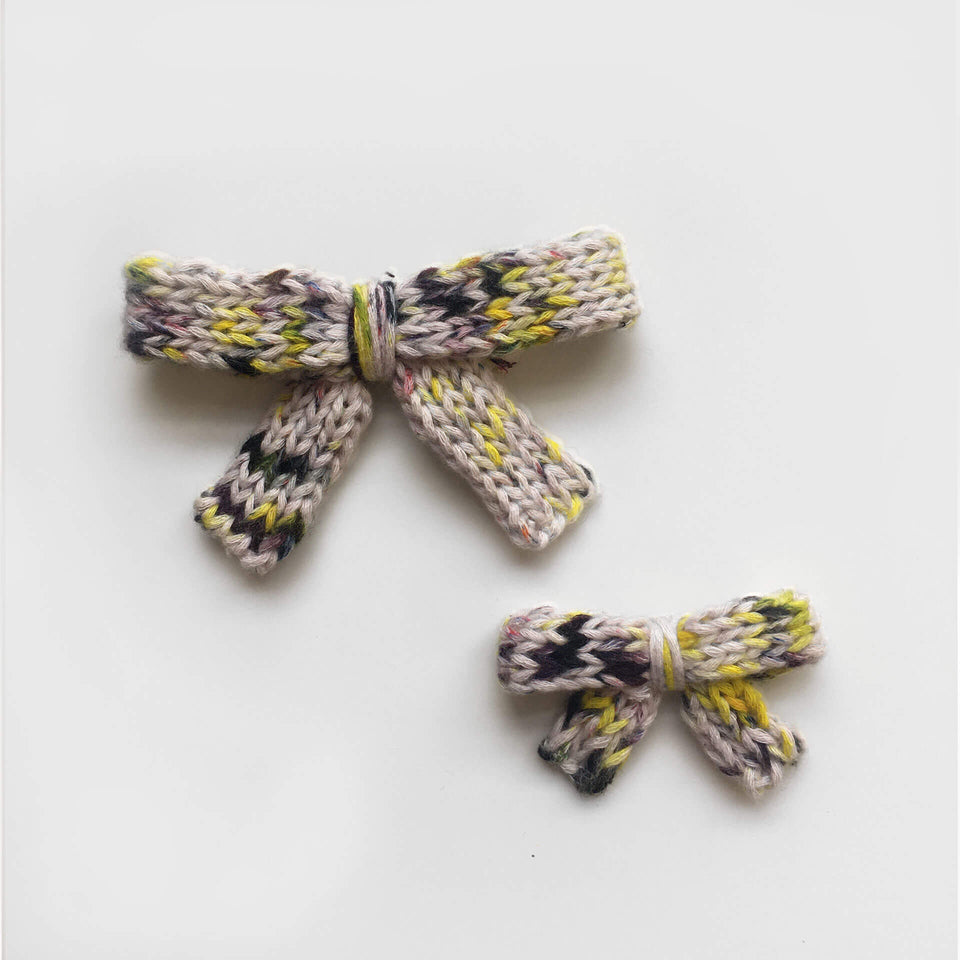 Knit Hair Bow Clip