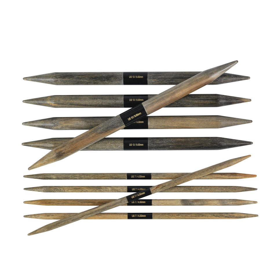 "Lykke Driftwood 6"" Double Pointed Knitting Needle"