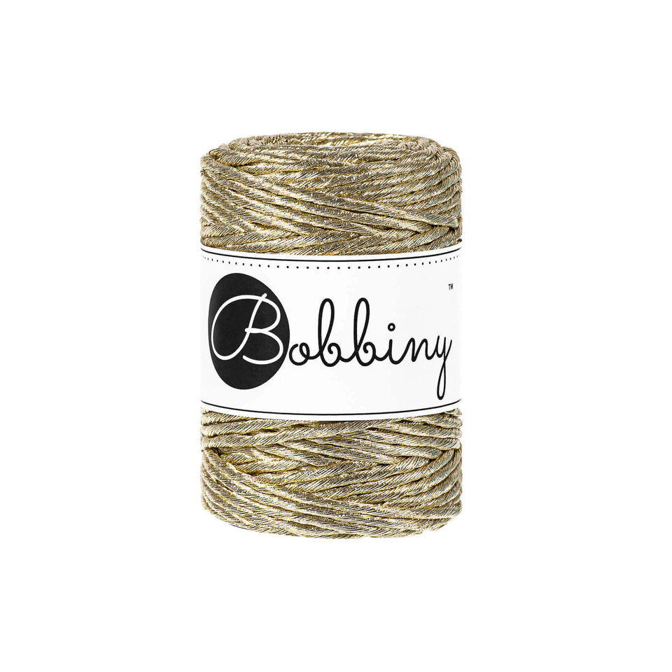 Premium Macrame Cord 3mm Metallic - Fiber - Max and Herb - Bobbiny