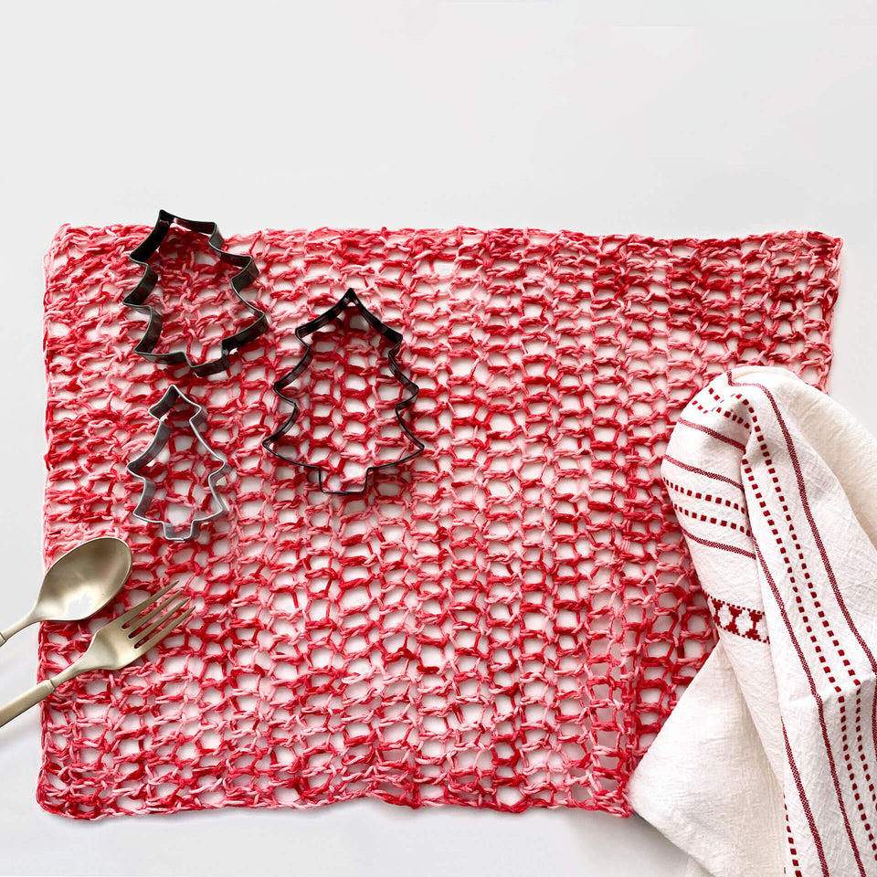 Free Placemat Crochet Pattern - Washcloth - 100% Pima Cotton