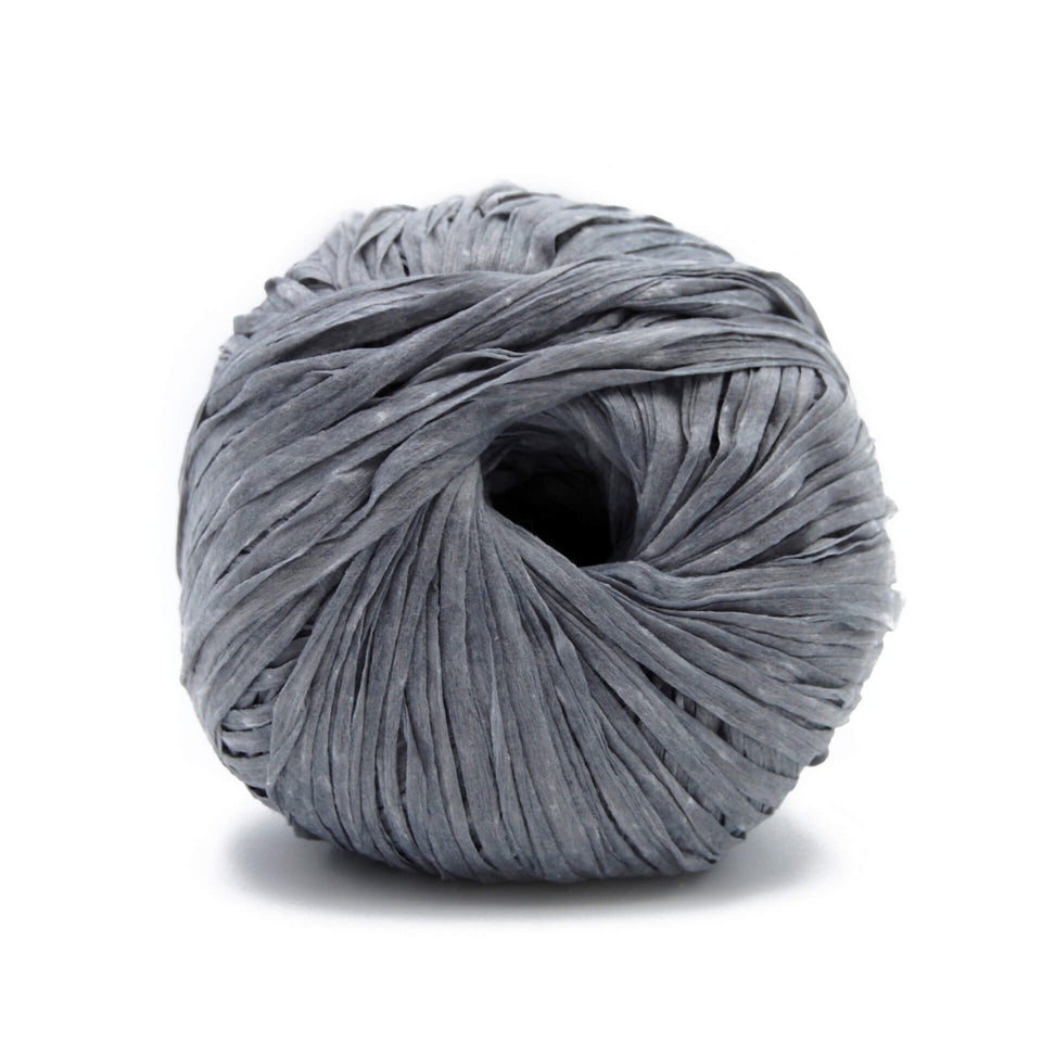 Washi Yarn - Gray 100% Recycled Fiber Light and soft