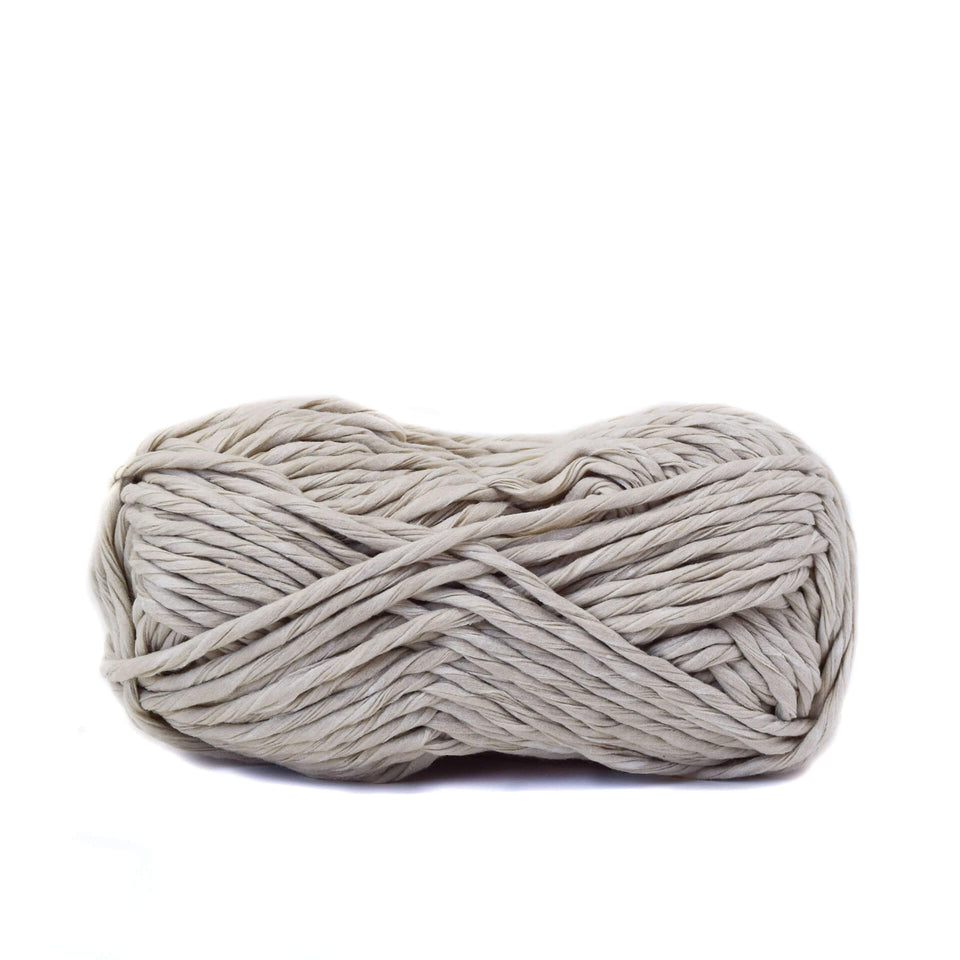 Paper Cord Yarn - Ecru 100% Recycled Fiber Light and soft