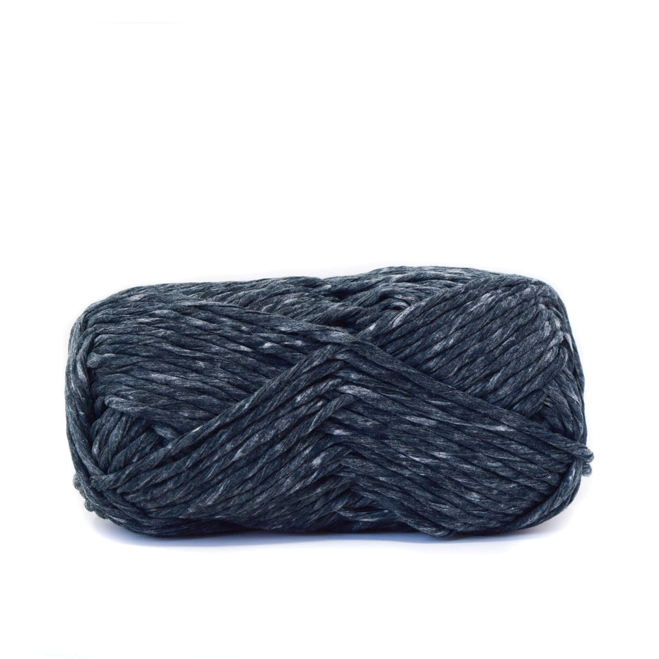 Paper Cord Yarn - Black 100% Recycled Fiber Light and soft