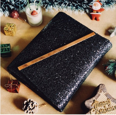 Midnight Black Glitter Planner