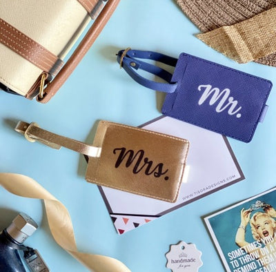 Mr & Mrs Couple Luggage Tags