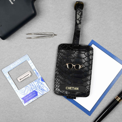 Stealth / Triple Black Luggage Tag