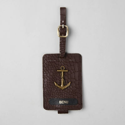 Walnut Luggage Tag