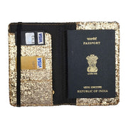 Solid Gold Glitter Passport Wallet
