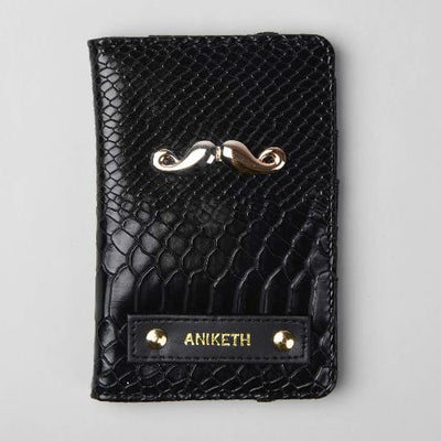 Triple Black Passport Wallet