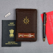 Walnut Passport Wallet
