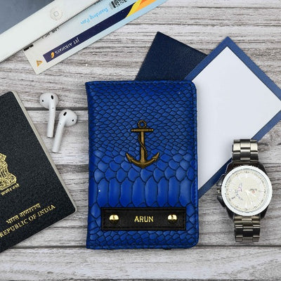 Midnight Blue Passport Wallet