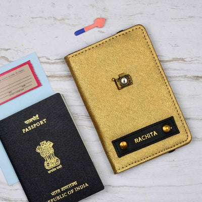 Chrome Gold Passport Wallet