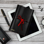 Black and Red Travel Diary - Tisora Designs