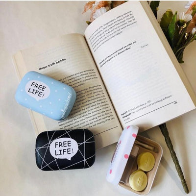 blue Free Life lens Case