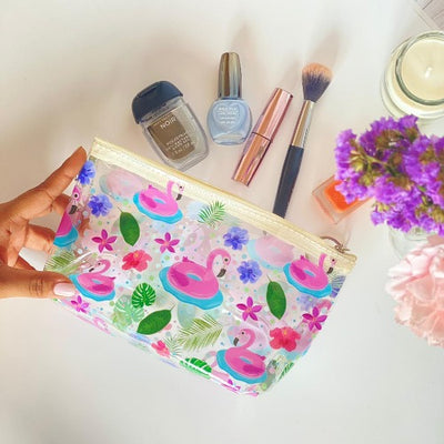 flamingo tube pouch