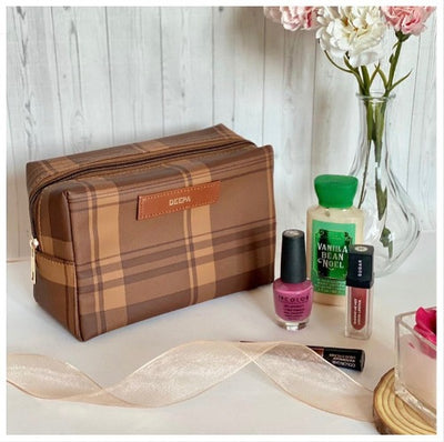 Cedar Chequered Travel Kit - Tisora Designs