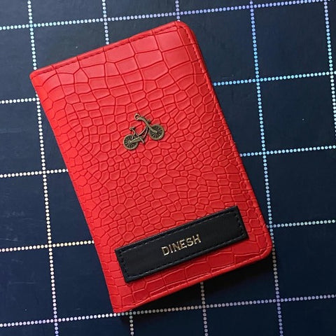 Fiery Red Passport Wallet