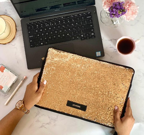 Solid Gold Laptop Sleeve