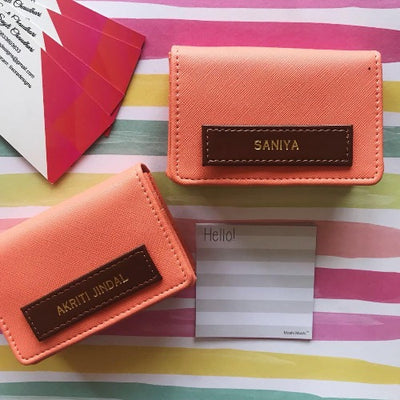 Blush Gold Card Holder