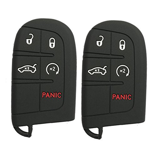 Qty(2) Silicone Smart Key Remote Fob Cover for Jeep Grand Cherokee