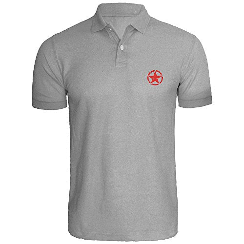 Mens Jeep Military Star Embroidered Polo Shirts Men Tee