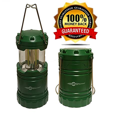 Rescue Green Portable LED JeepInformant Lantern for Auto Repair, Camping,  Emergency, Hurricane, Power Outage, Survival Kit (Collapsible)