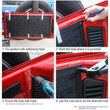 Canvas 1PC Tailgate Cargo Storage Bag & 2PCS Tool Kit Organizer Pockets