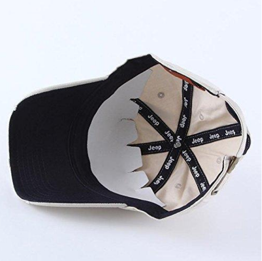 41cbb2a6 ... Jeep Oscar Mike Star 1941 Hat for Men or Women Adjustable Classic Cap (Off  WHITE ...