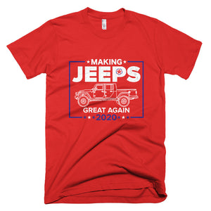 Making Jeeps Great Again 2020 Jeep Gladiator Red T Shirt made in USA **FREE SHIPPING**