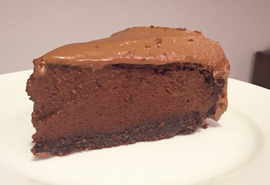 Baked Triple Chocolate Cheesecake