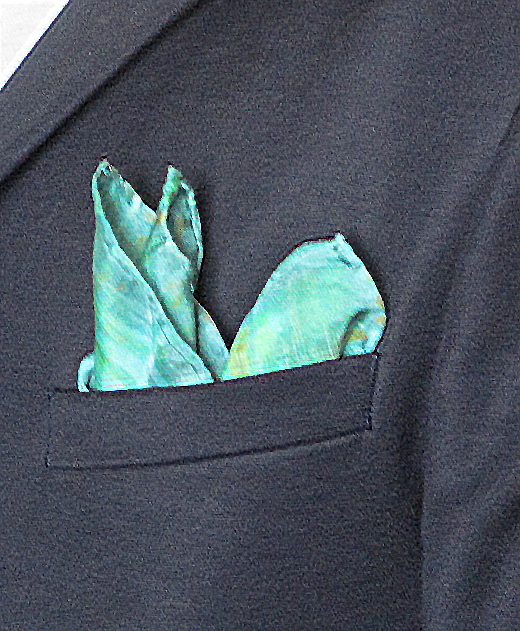 SUMMER Sophisticated Green Pocket Square for Men by Ripecolor