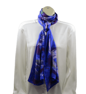 TORRENT Pure Silk Scarf for Women by Ripecolor | Made by Artist