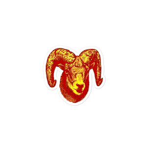 Aries  Red sticker