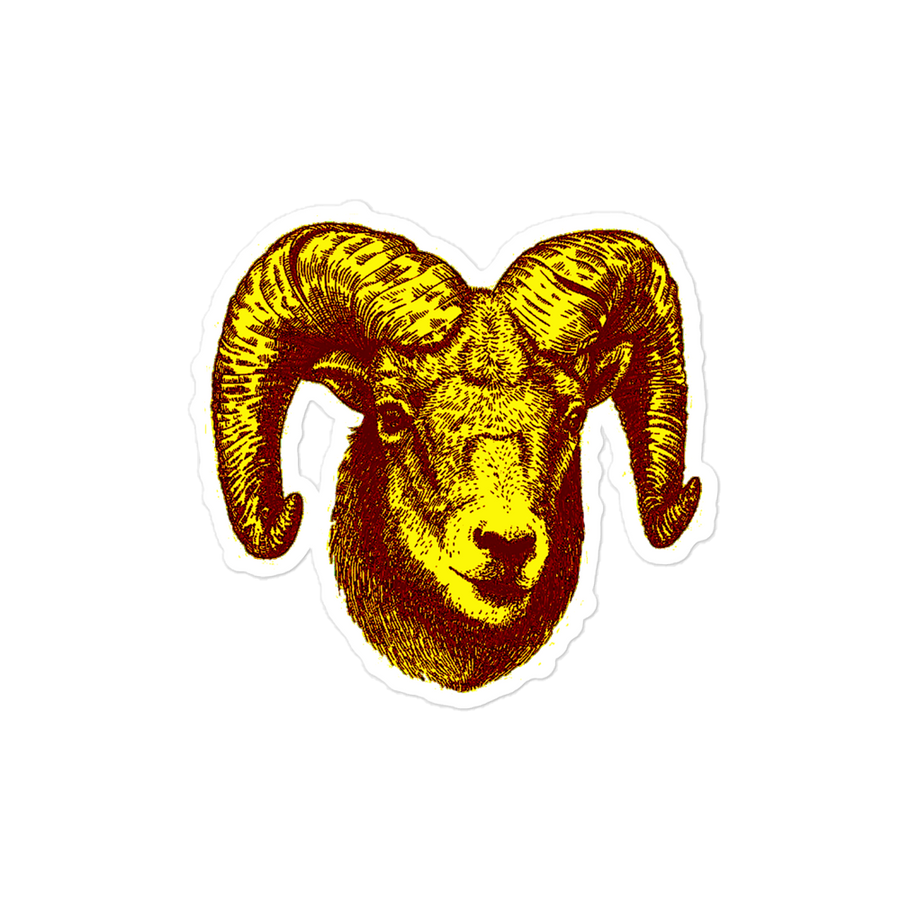 Aries  Brown sticker