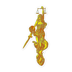 Libra Golden sticker