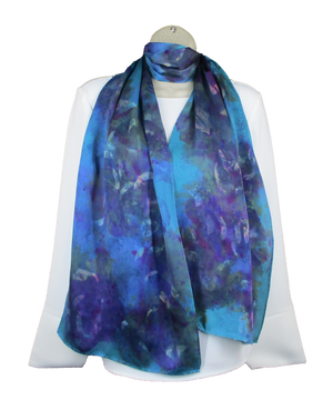 Rafael Satin Scarf in Teal