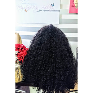 Raw Filipino Curly Lace Closure Wig