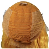 Yellow Flame Front Lace Wig