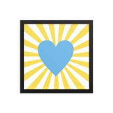 Load image into Gallery viewer, Blue Heart Wall Art