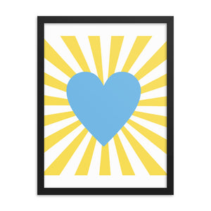 Blue Heart Wall Art