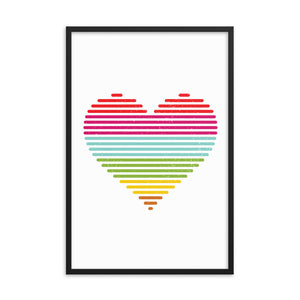 Rainbow Heart Wall Art