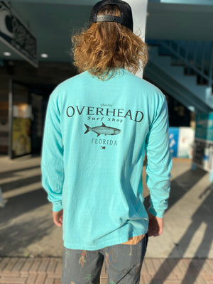 Tarpon Logo Long Sleeve in Chalky Mint