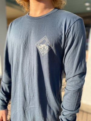 Sport Fish Long Sleeve Tee in Navy