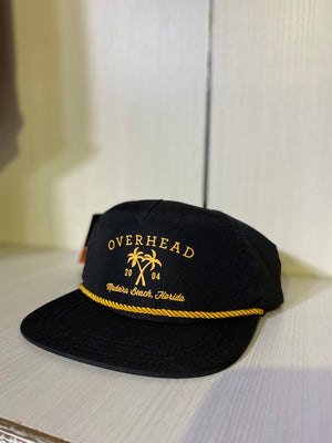 Cross Palm Hat in Black
