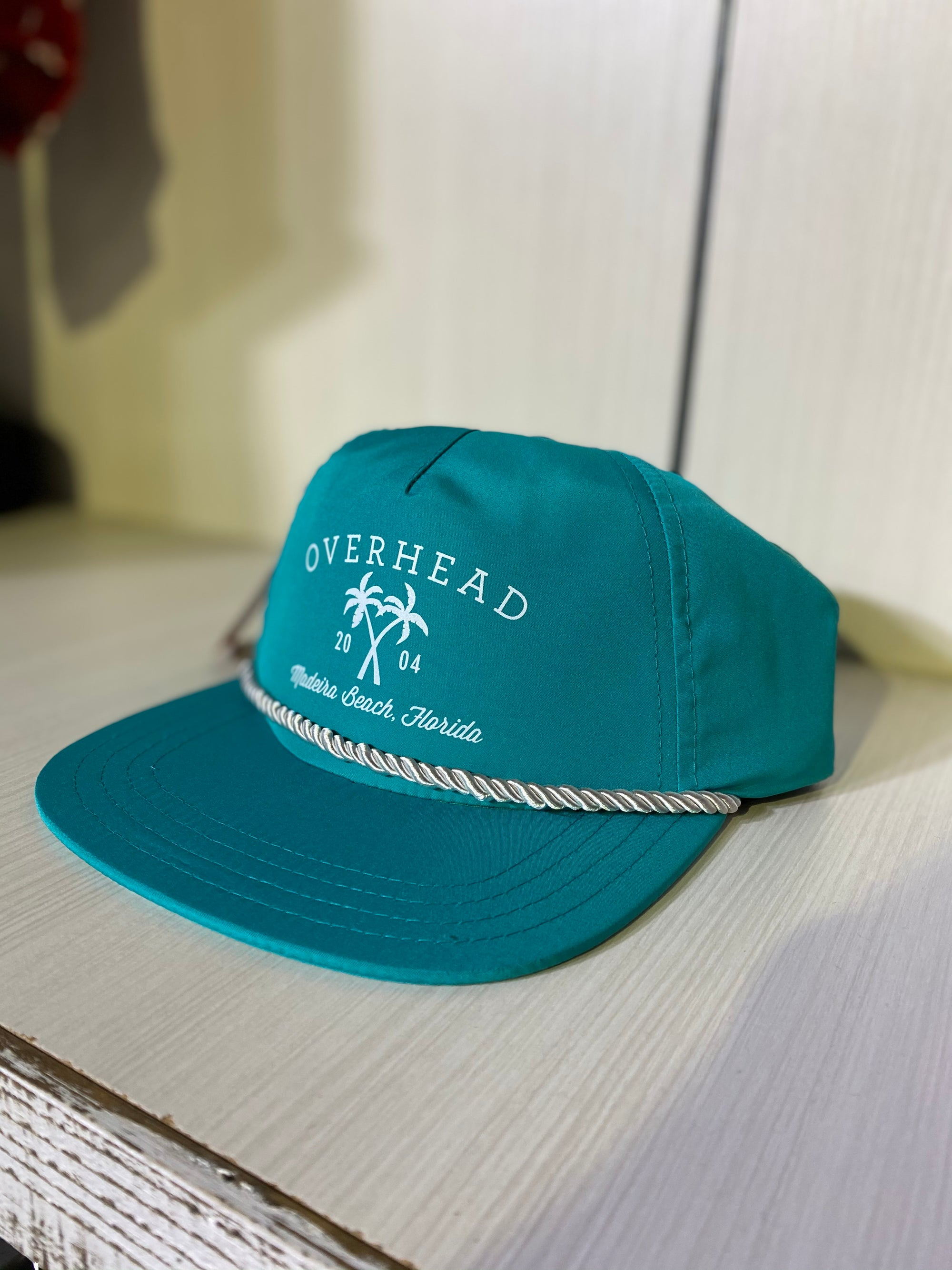 Cross Palm Hat in Turquoise