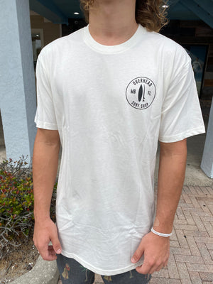 Round Shop Logo Tee in Natural