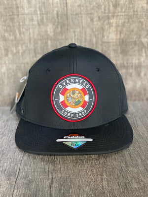 Round Flag Performance Trucker in Black