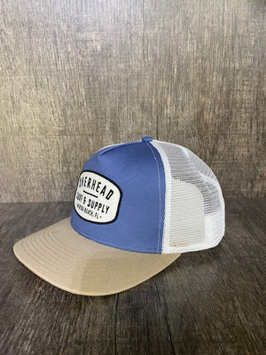 Surf and Supply Trucker Hat in Blue/Sand