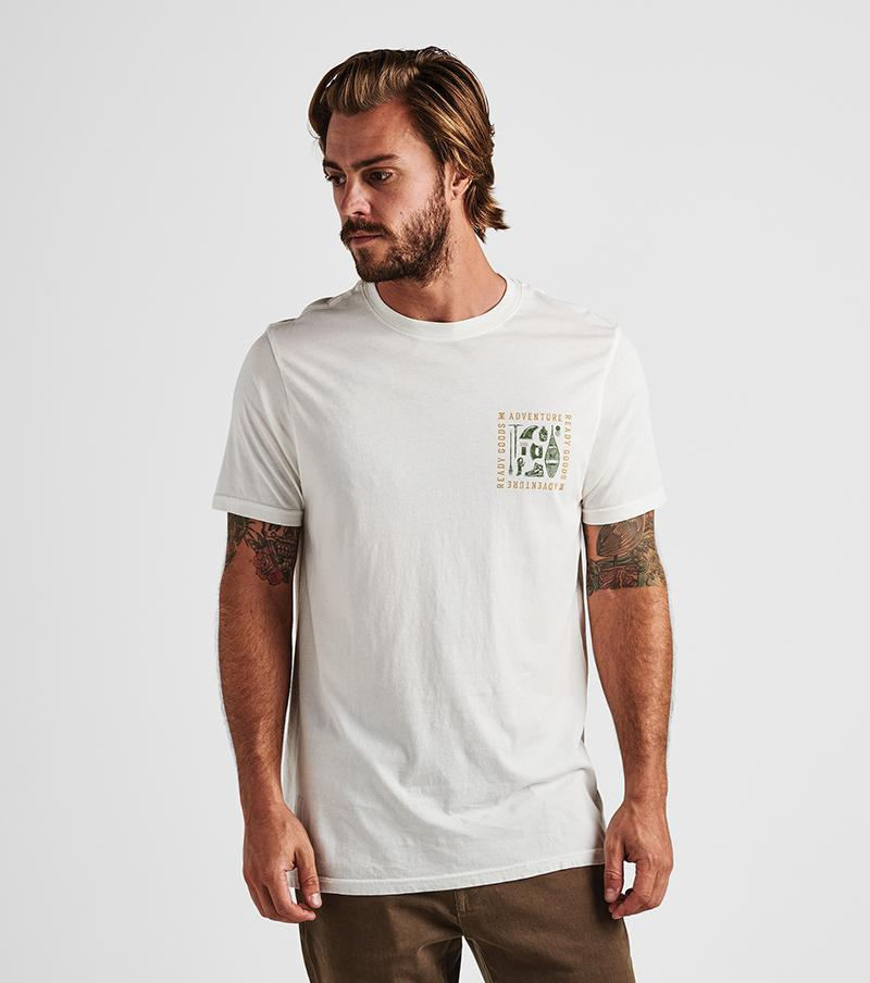 Adventure Ready Tee in Off White