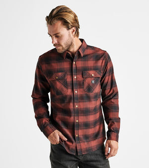 Alpinist Flannel in Maroon